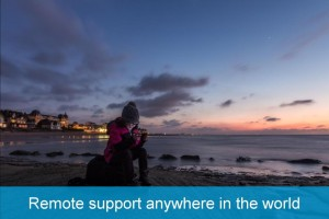 Remote support anywhere in the world